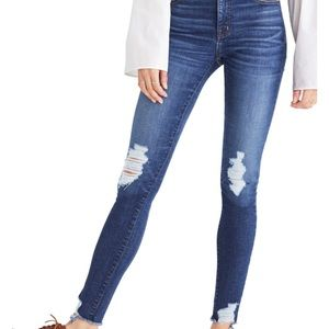 9 inch high rise Madewell jeans